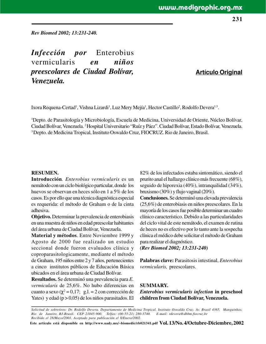 enterobius vermicularis en ninos hpv cancer symptoms in males