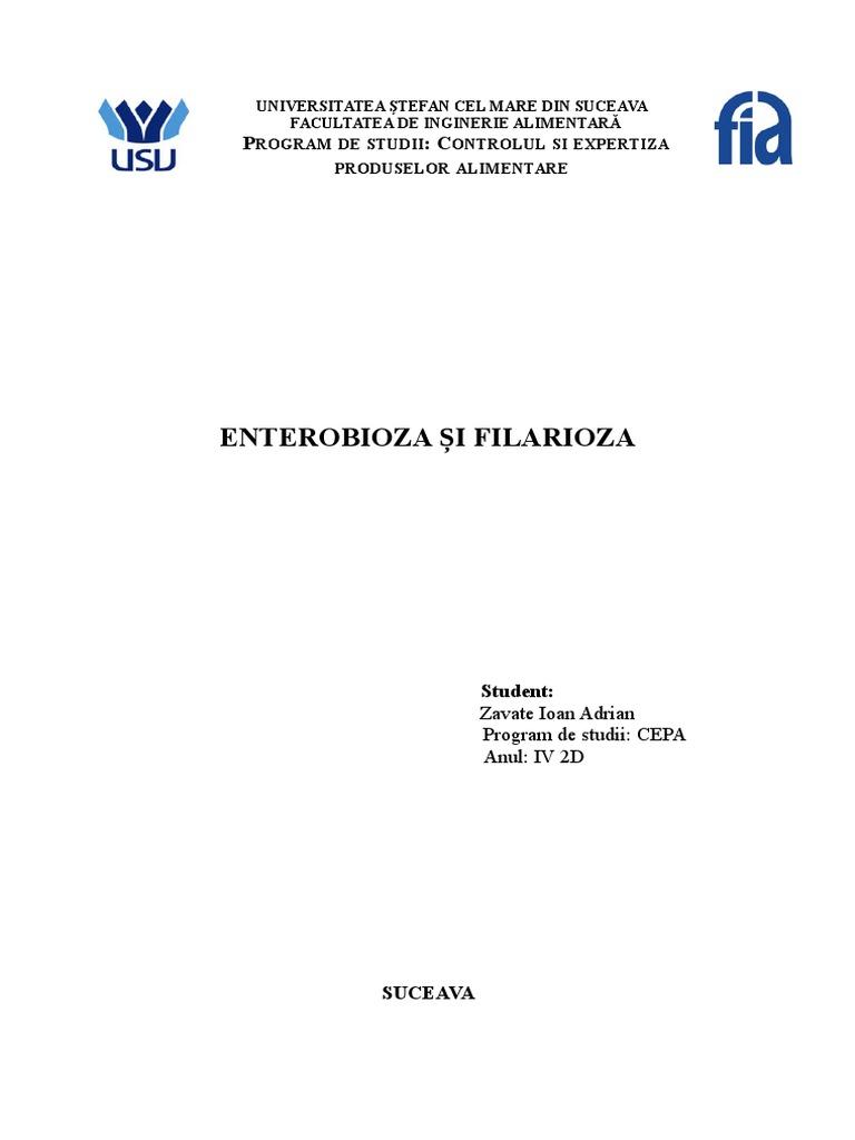 frotiu de enterobioză la adulți