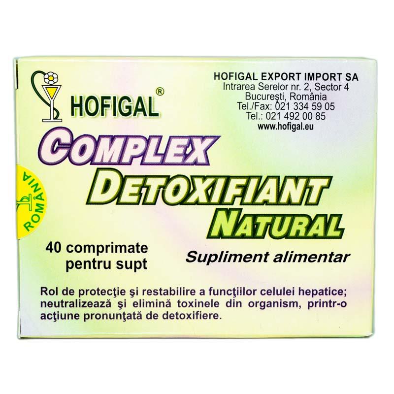 Complex detoxifiant si hepatoprotector natural 40 comprimate Hofigal | Detoxifiere