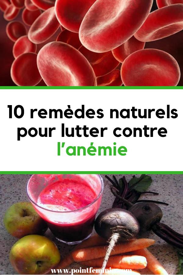 anemie et regle