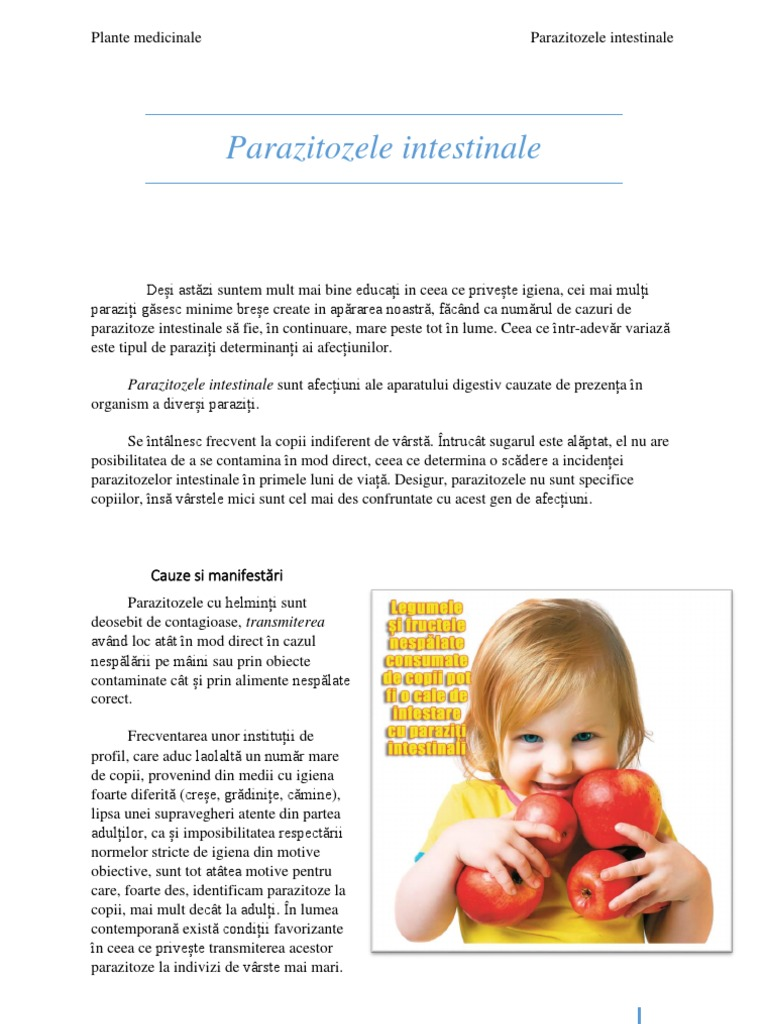 tratamentul paraziților la sugari sentimente de vigoare cu copiii