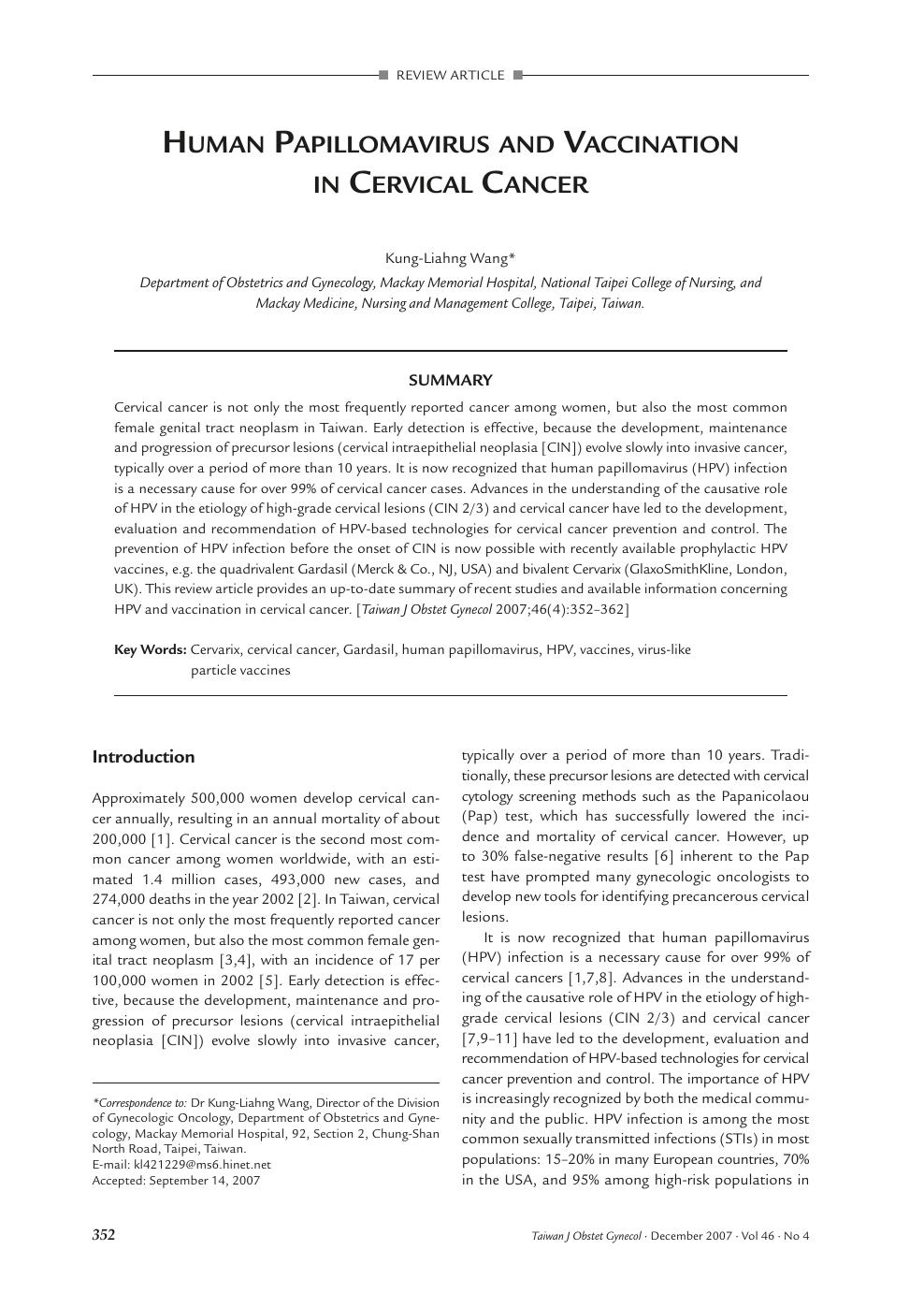 human papillomavirus review article nutriție pentru enterobiază