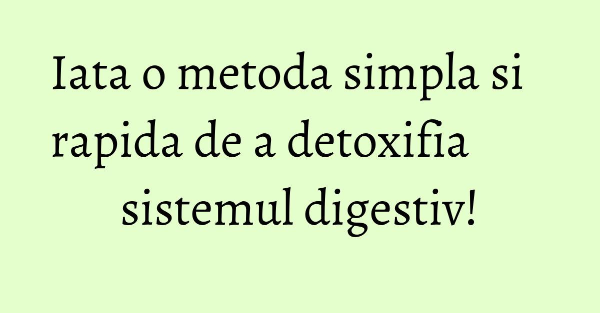apa de sare de detoxifiere a colonului